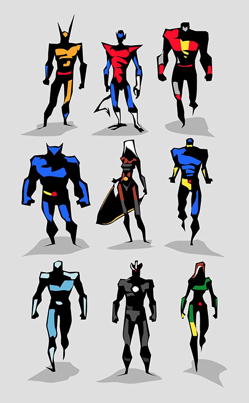 Character Design Hero : Amazing superhero character designs mightymega