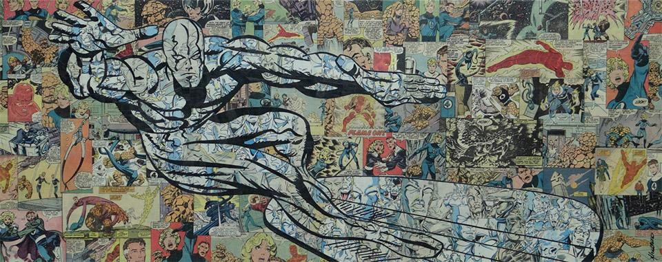 Fantastic Comic Book Collage Art