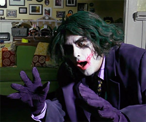 The Dark Knight: Homemade Joker Pencil Trick Scene
