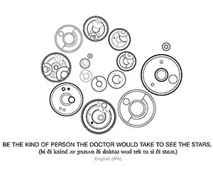Doctor's Cot Gallifreyan: A Fan-Made Writing System