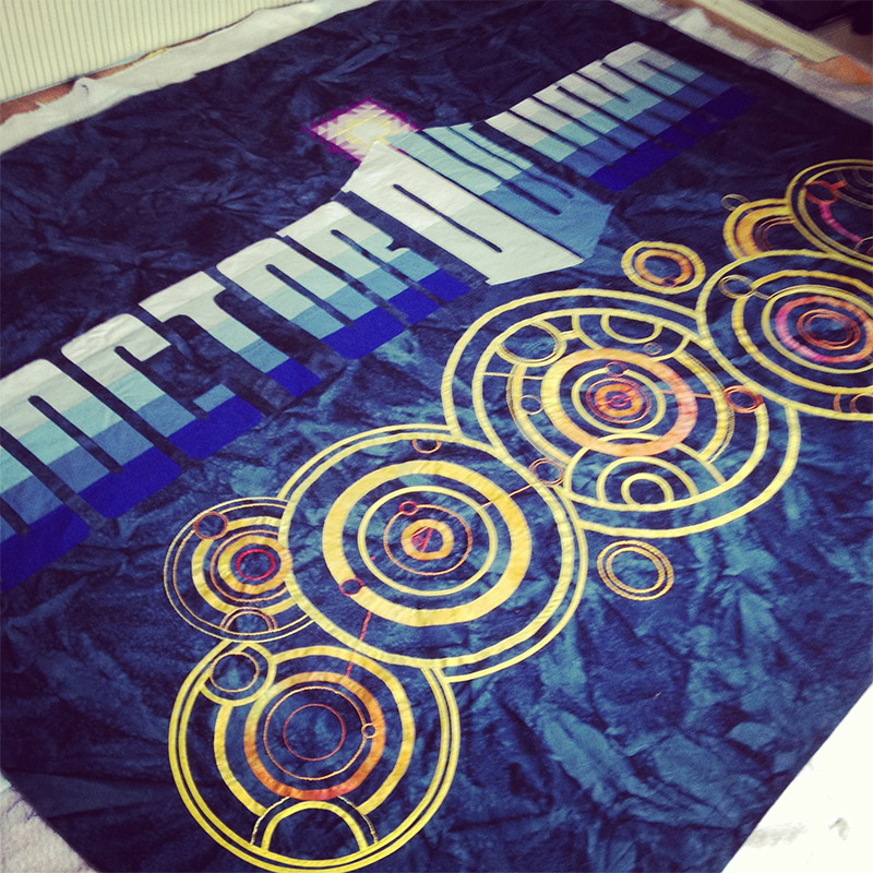 beautiful handmade doctor who quilt