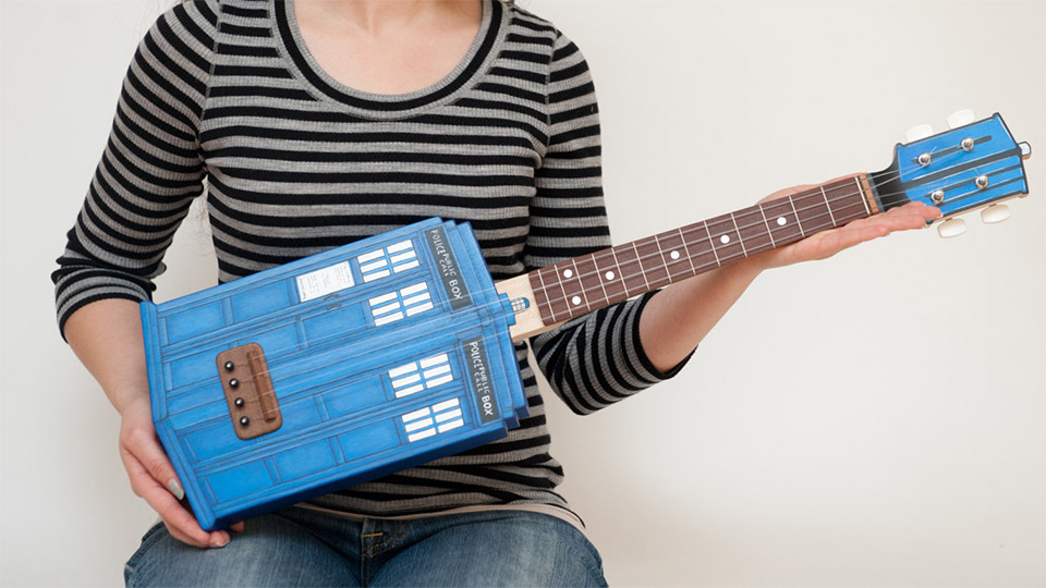 Own Your Own Doctor Who TARDIS Ukulele