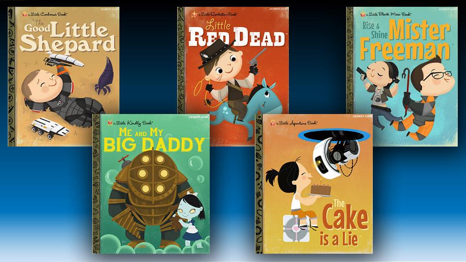 Little Golden Books Redone for Popular Games