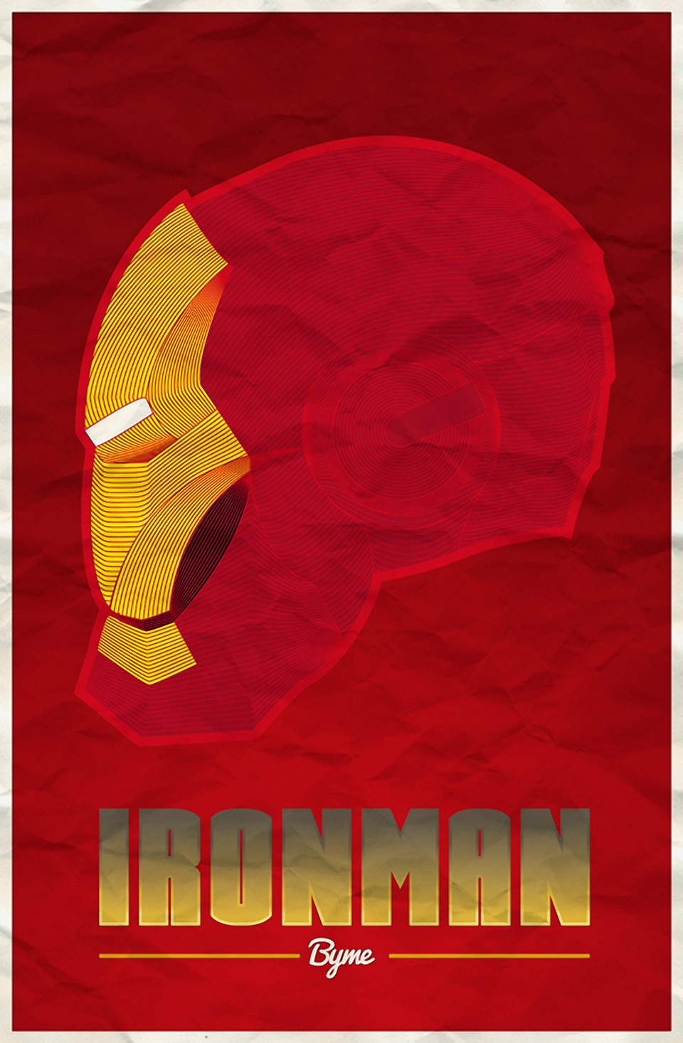 Terrific Line-Based Iron Man Helmet Illustrations