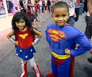 Kids Cosplay Super-Cute Superheroes
