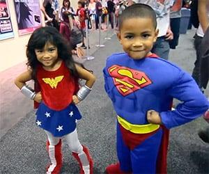 Kids Cosplay Super-Cute Superheroes