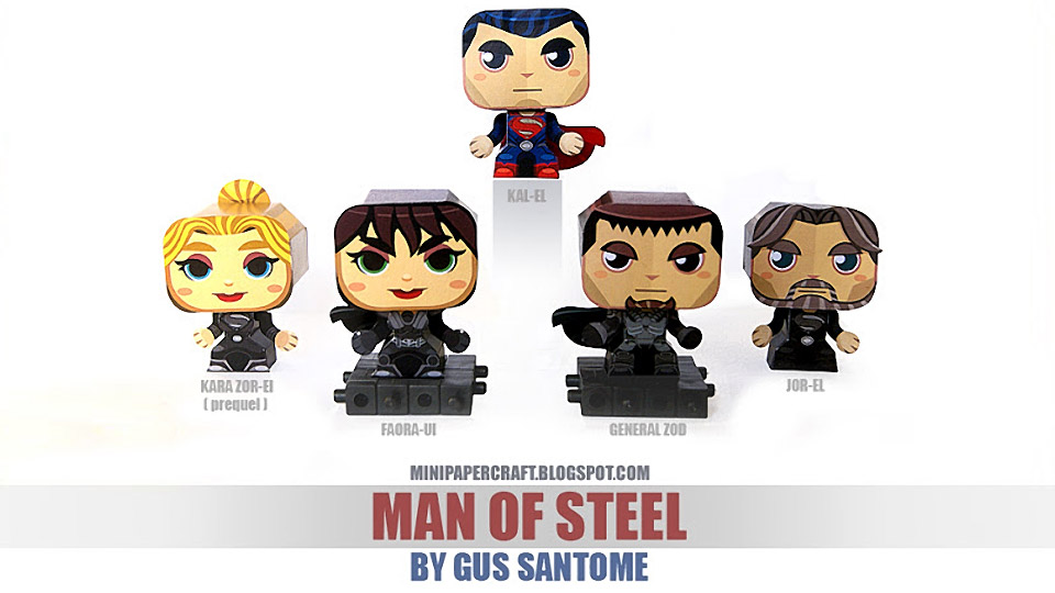 Super-Fun Man of Steel Papercraft