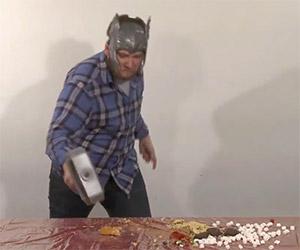 Thor, God of Thunder Smashes Fattening Foods