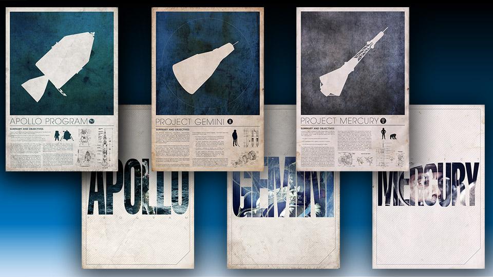 Terrific NASA Space Program Art Prints