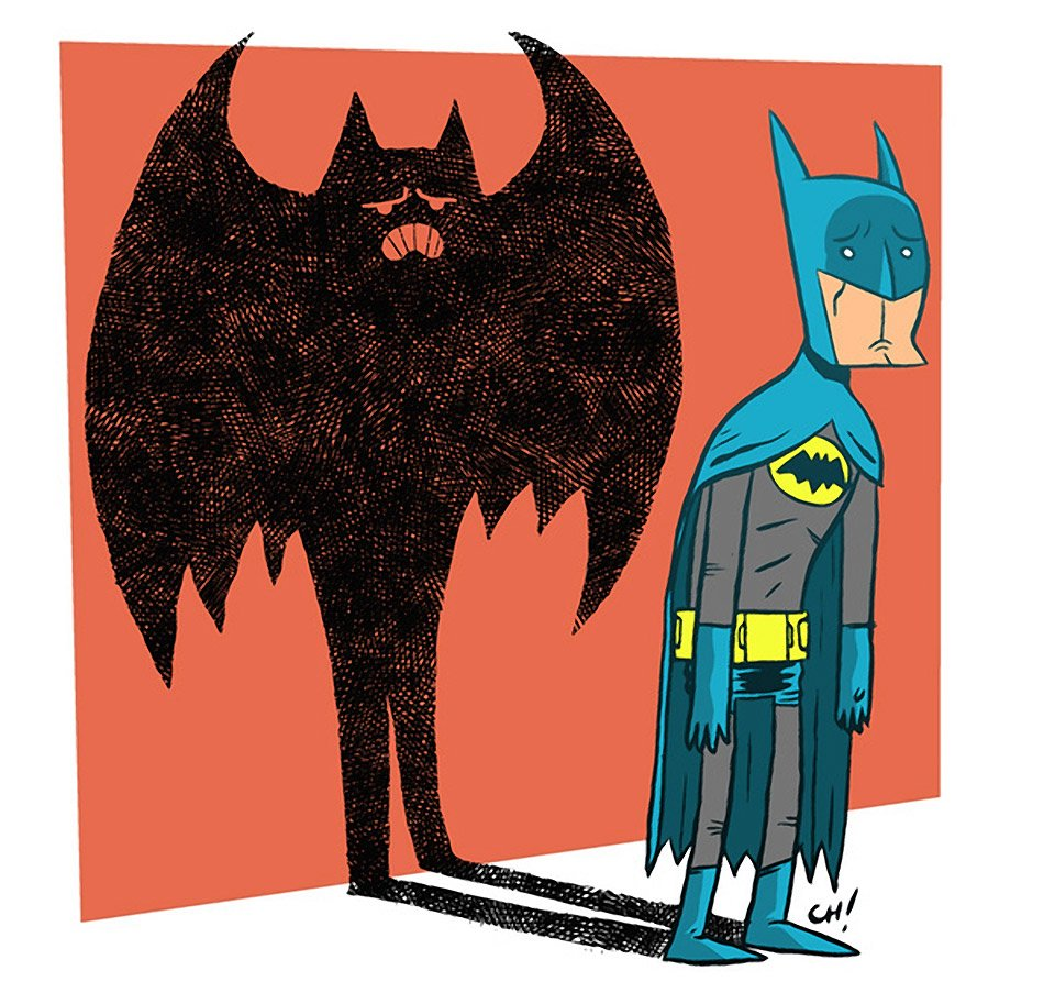 Sad Batman is Sad Art Print