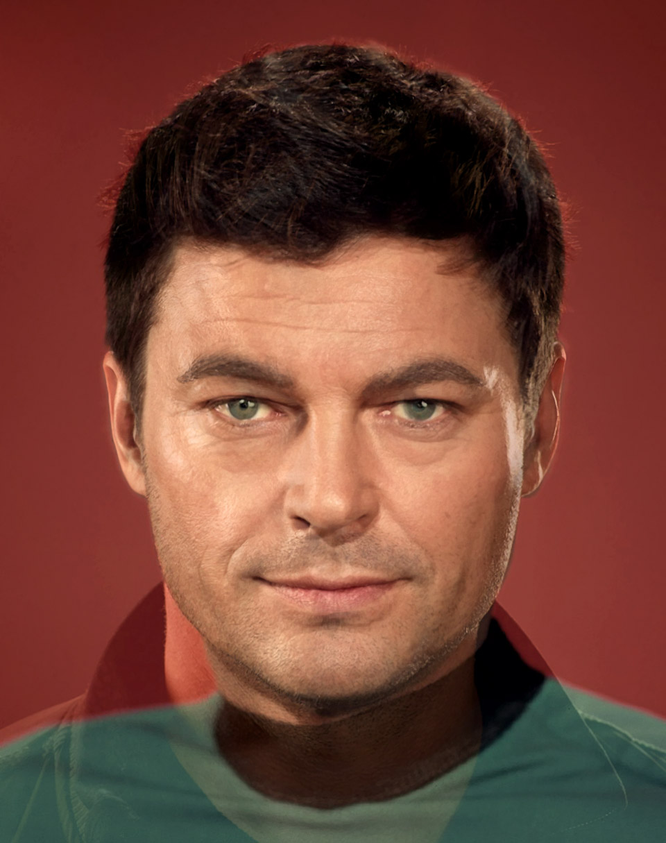 Incredible Star Trek Past & Present Morphed Faces