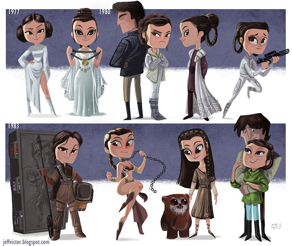 The Evolution of Princess Leia and Luke Skywalker