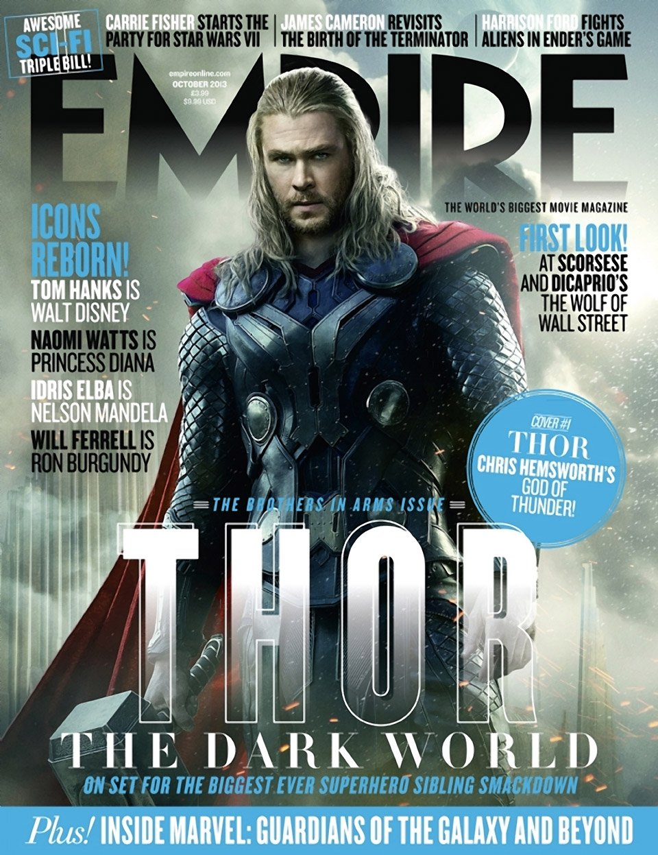 Thor: The Dark World Empire Magazine Covers
