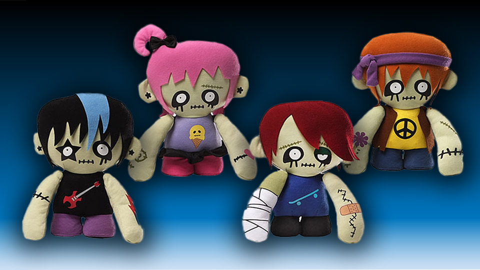 Hipster Zombie Plush Set