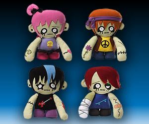 Hipster Zombie Plush Set