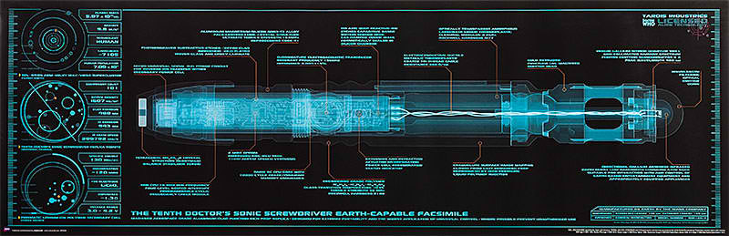 Doctor Who Sonic Screwdriver Blueprint