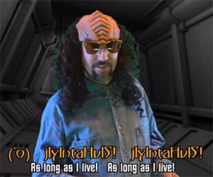 Captain Picard Gets Rickrolled: Klingon Parody