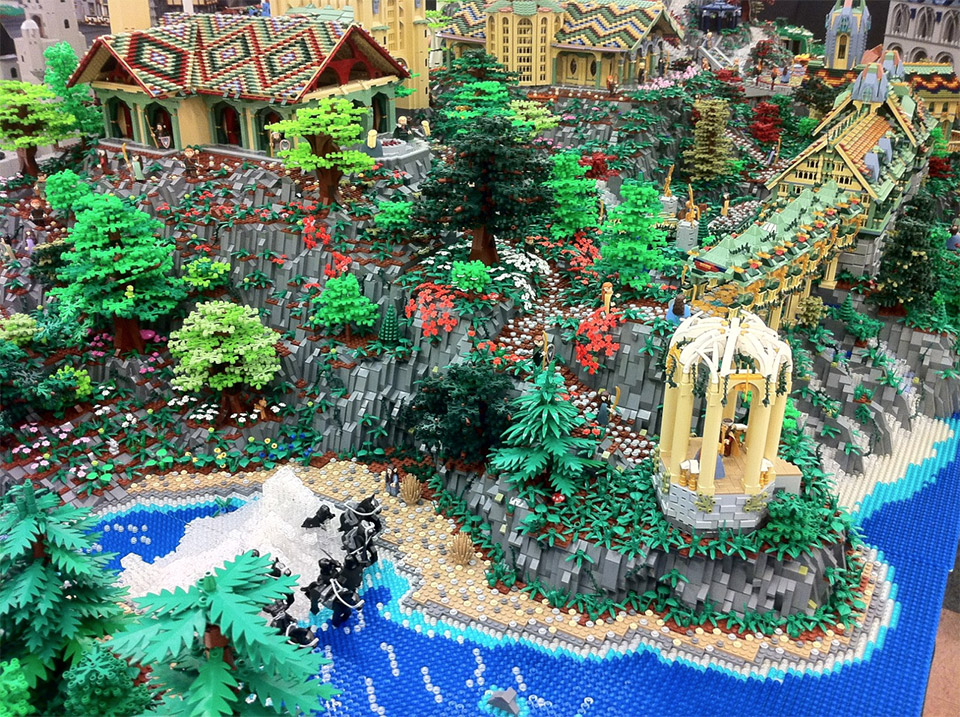 Lord of the Rings Rivendell Created in LEGO