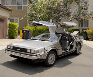 Back to the Future Fan's DeLorean Time Machine