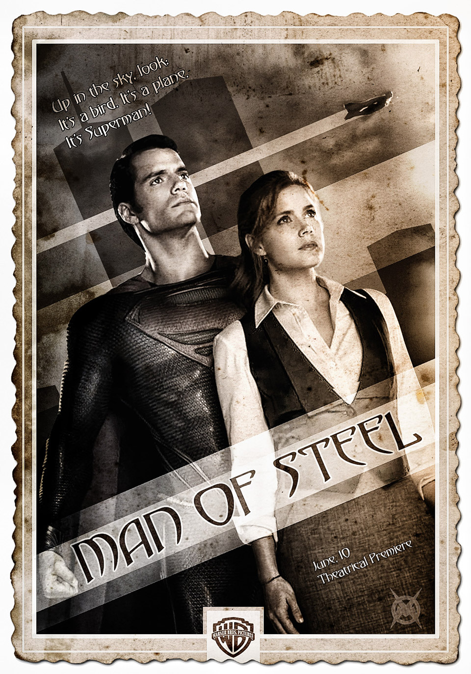 Movie Poster as Silent Film Redesigns