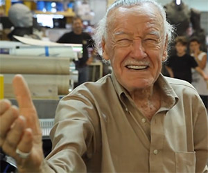 Stan Lee Visits His Creations at Legacy Effects