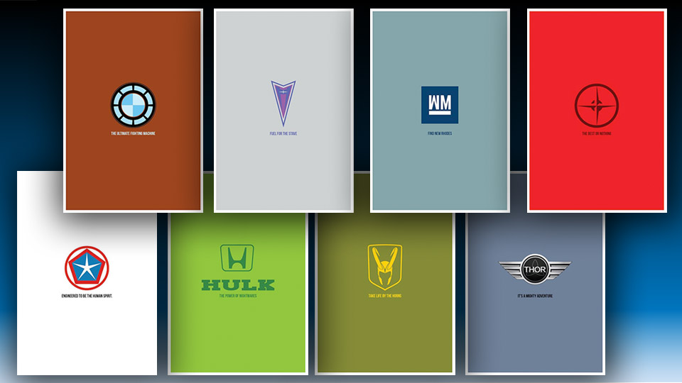 Earth's Mightiest Vehicles: Avengers Car Company Logos