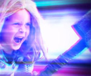 Thor Kid: A Pint-Sized Superhero Wields Mjölnir