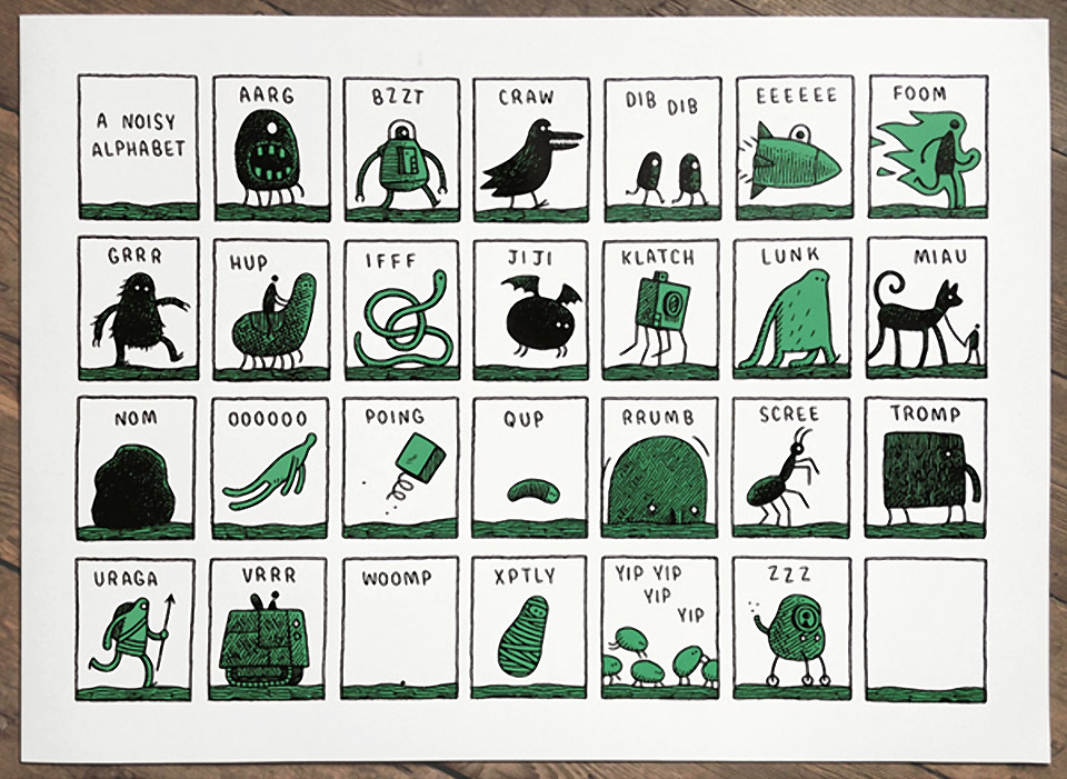 Limited Edition Noisy Alphabet Print