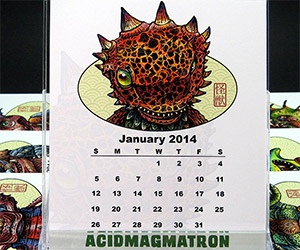 2014 Kaiju Desktop Calendar and More