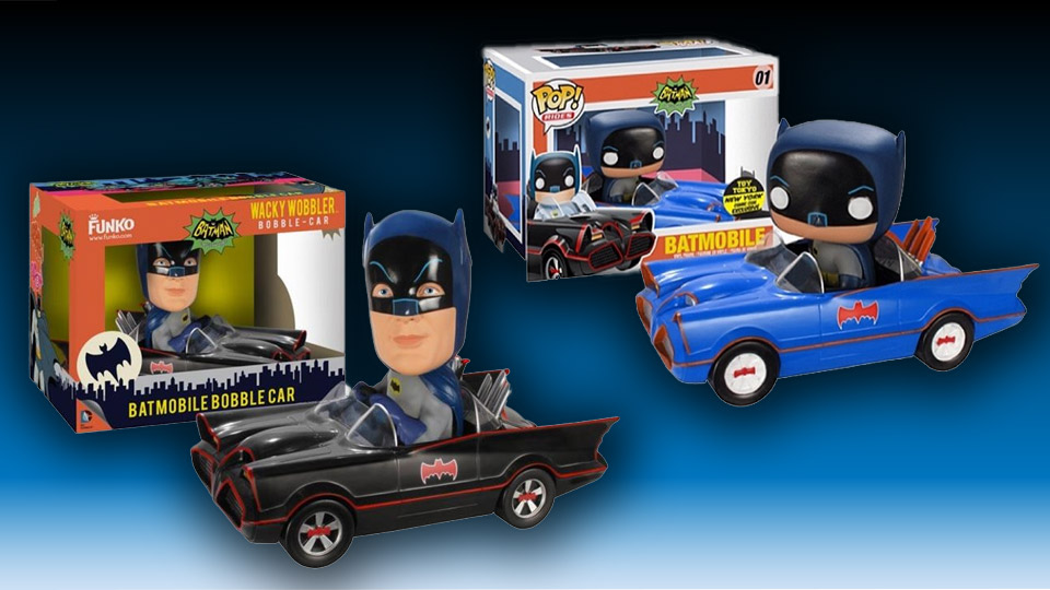 Two Funko Batmobile Collectibles