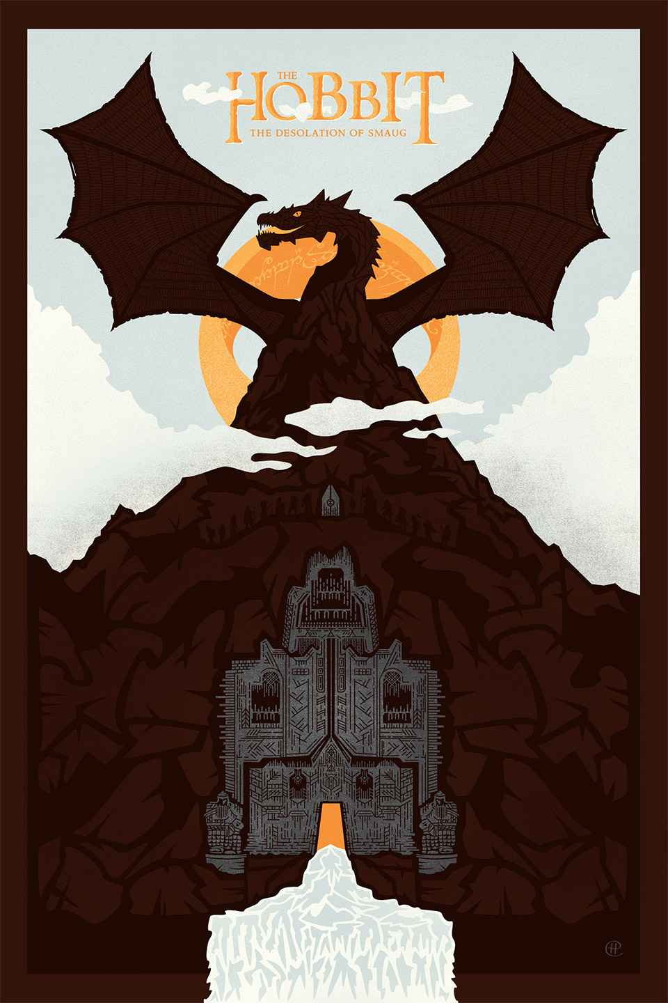 Incredible Smaug and the Lonely Mountain Print