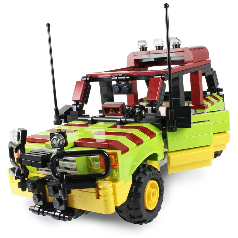 Jurassic Park Tour Vehicle Custom Lego Kit Mightymega