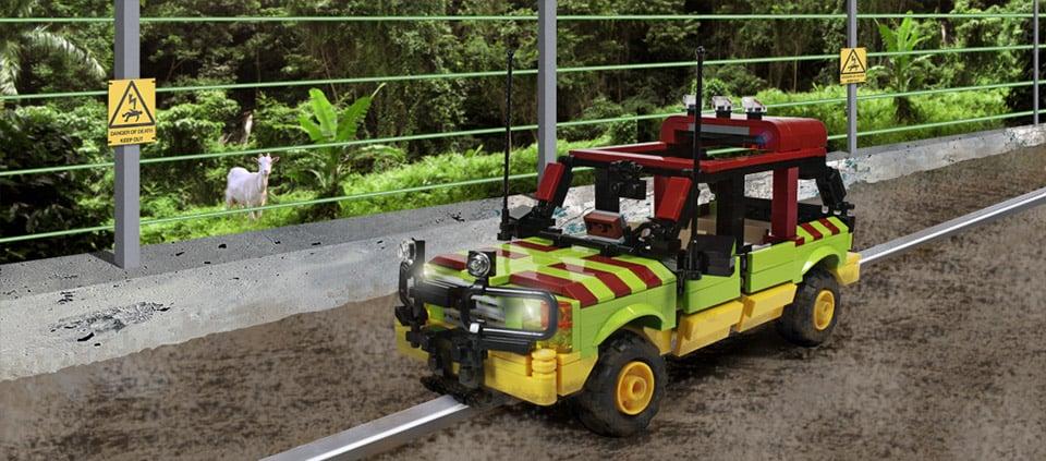 Jurassic Park Tour Vehicle Custom LEGO Kit