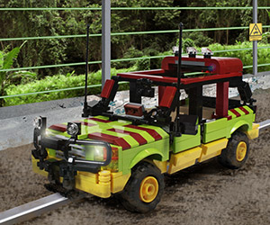 Jurassic Park Tour Vehicle Custom LEGO Kit