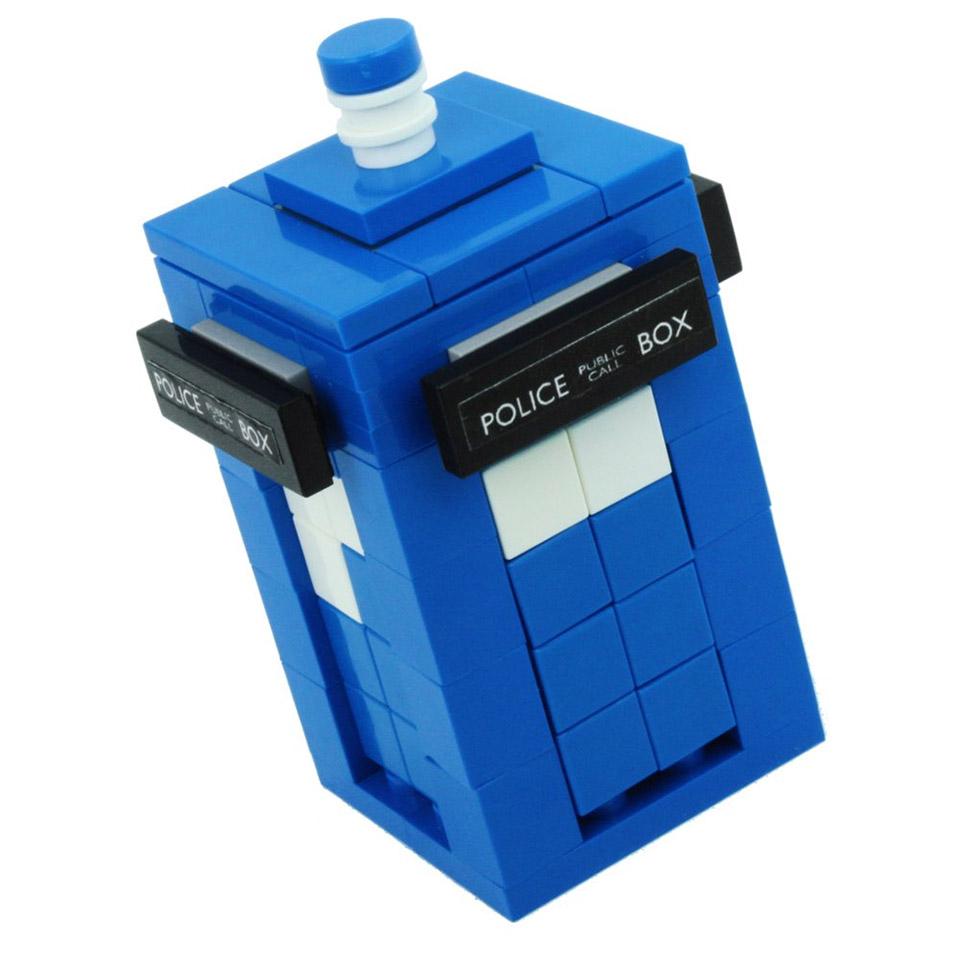 Doctor Who Blue Police Box Custom LEGO Kit