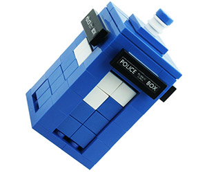 Doctor Who Blue Police Box Custom LEGO Kit