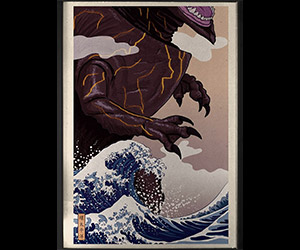The Great Wave at Kanagawa Meets Pacific Rim