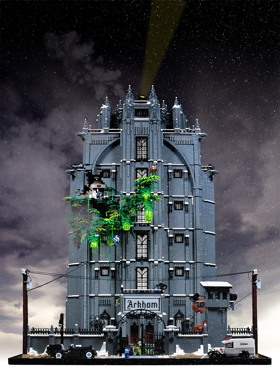 Incredible Batman Arkham Asylum LEGO Creation