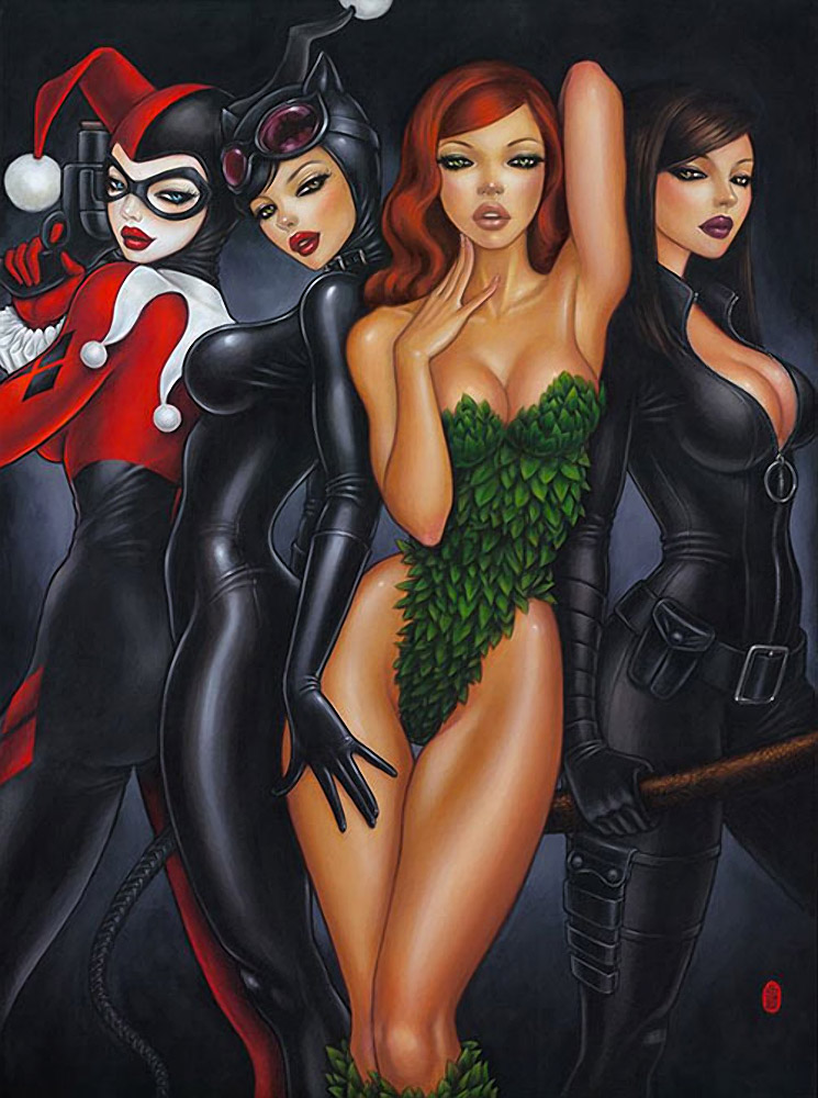 Bad Girls: An Illustration of the Evil Vixens of Batman