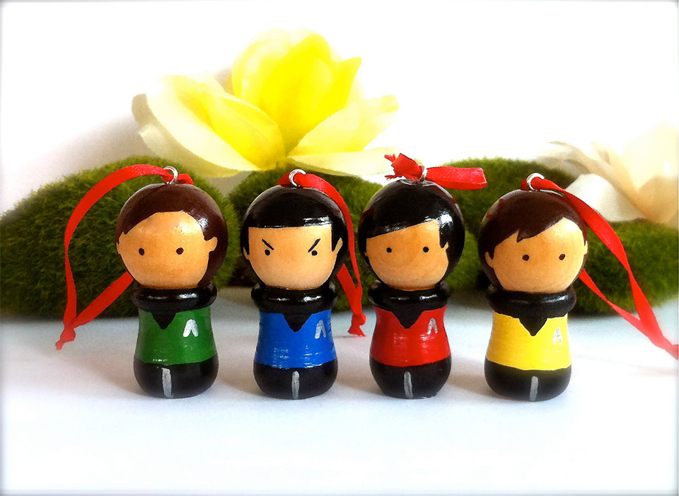 Star Trek Christmas Ornaments Set