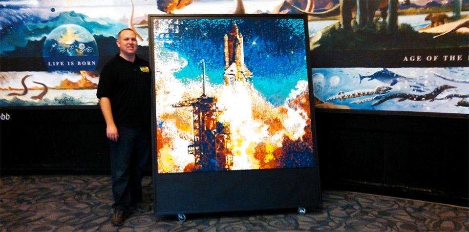 5 Foot Square LEGO Mosaic: Sunrise Launch