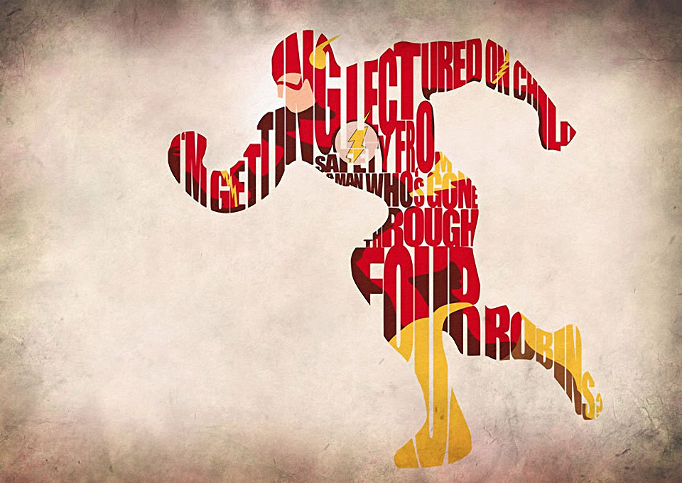 Superhero and Supervillain Typography Posters