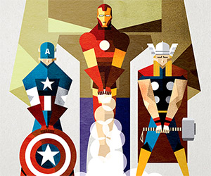 The Avengers: Vector Art Poster