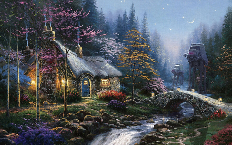 Thomas Kinkade: Painter of the Dark Side