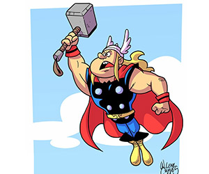 The Physics of Thor: How Does He Fly?