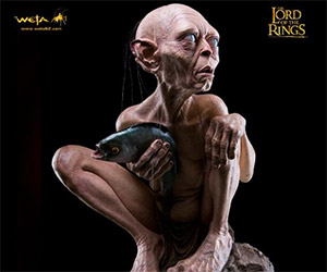 Life-Size Gollum Statue from WETA Workshop