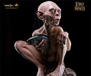 Life-Size Gollum Statue from WETA Workshop