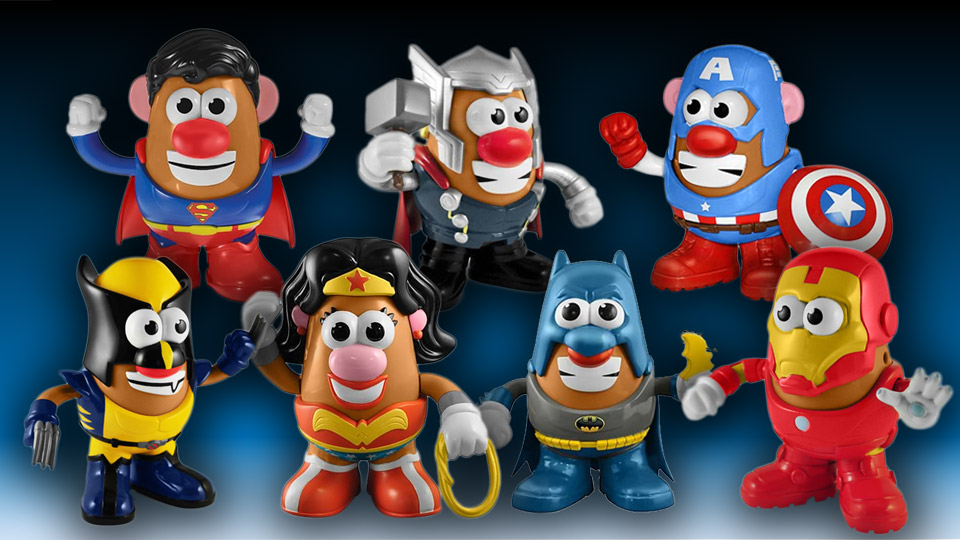 Awesome Superhero Mr. Potato Heads