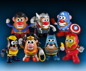 Awesome Superhero Mr. Potato Heads