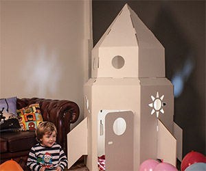 Cardboard Rocket: A Great Gift for Toddlers